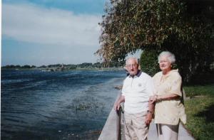 Mis padres en el lago Kissimmee